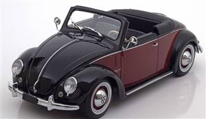 VW 1200 Hebmüller Convertible with removable Softtop 1949 black/darkred Limited Edition 1000 pcs.