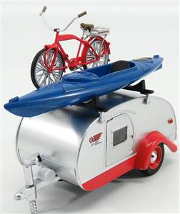 TRAILER - TEARDROP WITH BICYCLE AND KAYAK BOAT ROULOTTE 1960