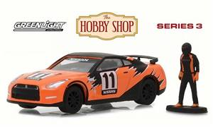 Nissan GT-R Race Car w/ Driver, Orange w/ Black