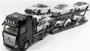 NZG - MERCEDES BENZ - ACTROS 2 1863 GIGASPACE 2018 TRUCK CAR TRANSPORTER - CARS NOT INCLUDED