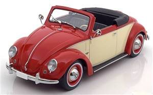 VW 1200 Hebmüller Convertible with removable Softtop 1949 red creme Limited Edition 2000 pcs