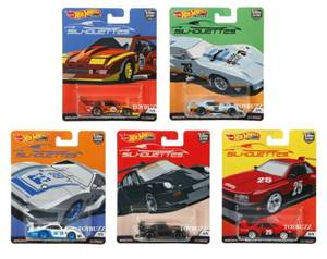 Hot Wheels 2019 Car Culture Silhouttes Series Set of 5 Cars, Premium 1/64