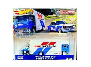 1971 Datsun 510 & Fleet Flyer *BRE* Truck, white/blue/red
