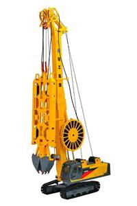 1:35 XCMG Underground Diaphragm Wall Hydraulic Grab Model Trenching Machinery